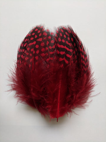 Red - Dotted Feathers (100 Pieces)