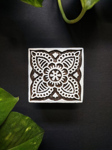 Mughal Square Wooden Block