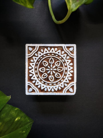 Rangoli Square Wooden Block-02