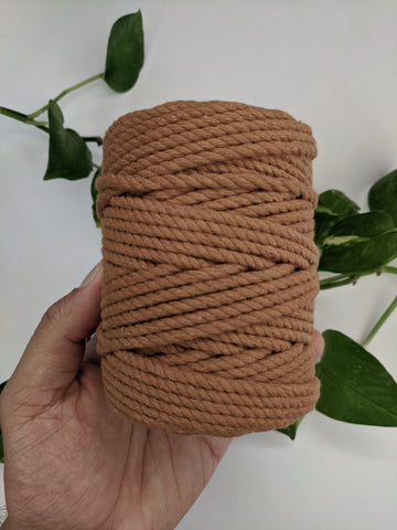 Sand Brown - 4mm Twisted Macrame Thread