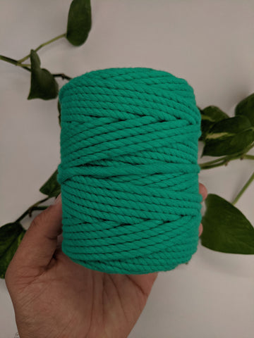 Sea Green - 4mm Twisted Macrame Thread