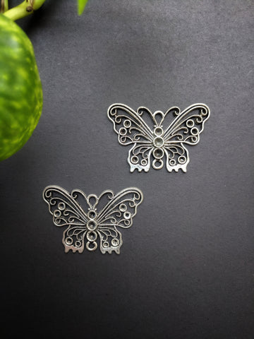 Butterfly Metal Charm (Pack of 2)