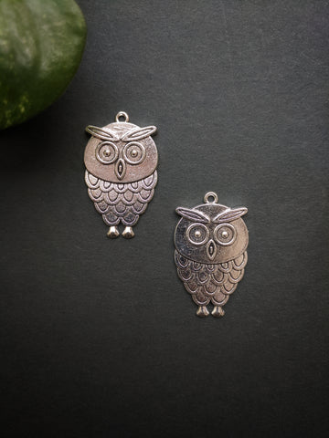 Small Owl Metal Charm (Pack of 2)