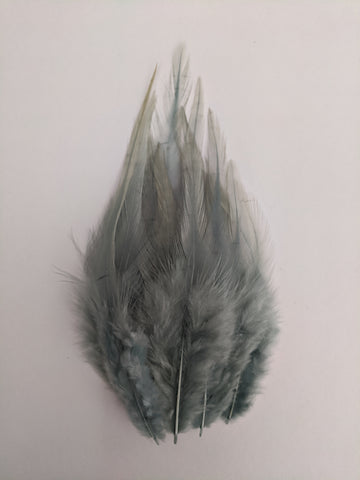 Steel Grey - Long Pointed Natural Feathers (100 Pieces)