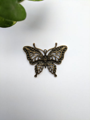 Swallowtail Butterfly Metal Charm (Pack of 1)