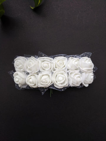 White Foam Flowers - Pack of 12