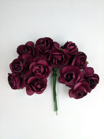 Wine Paper Flowers - Pack of 12