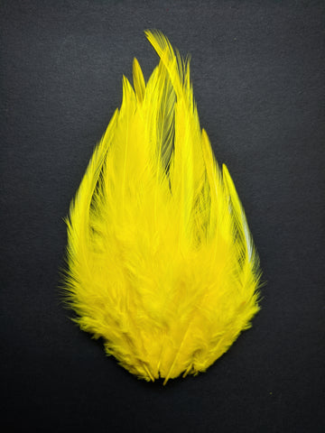 Yellow - Long Pointed Natural Feathers (100 Pieces)