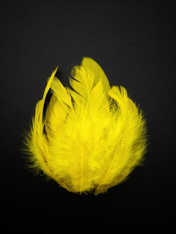 Yellow - Natural Small Feathers (100 Pieces)