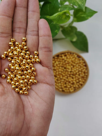 Golden Beads - 6mm (Pack of 200)