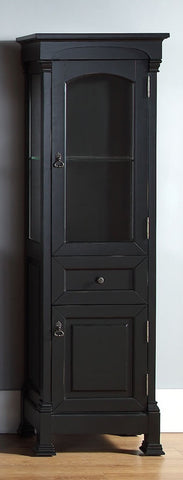 Brookfield Linen Cabinet, Antique Black Finish