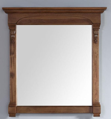 "Brookfield 39.5"" Mirror, Country Oak, James Martin Vanities - vanitiesdepot.com"