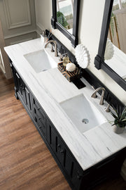 "72"" Brookfield Antique Black Double Bathroom Vanity, James Martin Vanities - vanitiesdepot.com"