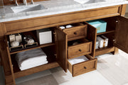 "72"" Brookfield Country Oak Double Bathroom Vanity, James Martin Vanities - vanitiesdepot.com"