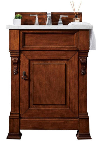 "26"" Brookfield Warm Cherry Single Bathroom Vanity, James Martin Vanities - vanitiesdepot.com"