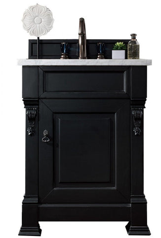 "26"" Brookfield Antique Black Single Bathroom Vanity, James Martin Vanities - vanitiesdepot.com"