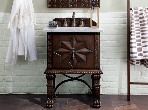 "26"" Balmoral Single Sink Bathroom Vanity, James Martin Vanities - vanitiesdepot.com"