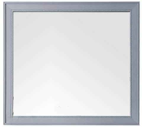 "Bristol 44"" Rectangular Mirror, Silver Gray, James Martin Vanities - vanitiesdepot.com"