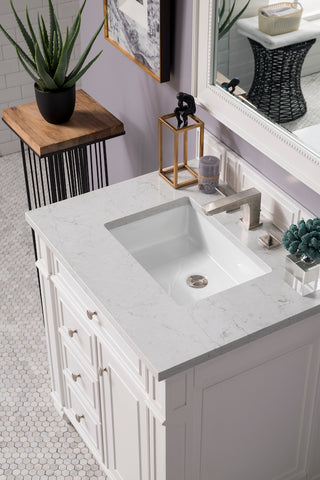 "30"" Bristol Single Bathroom Vanity, Cottage White"