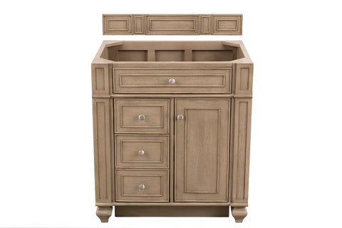"30"" Bristol Single Bathroom Vanity, Whitewashed Walnut"
