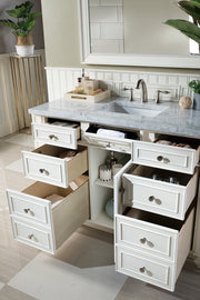 "48"" Bristol Single Bathroom Vanity, Bright White"