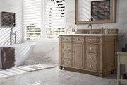 "48"" Bristol Whitewashed Walnut Single Bathroom Vanity, James Martin Vanities - vanitiesdepot.com"