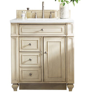 "30"" Bristol Vintage Vanilla Single Bathroom Vanity, James Martin Vanities - vanitiesdepot.com"