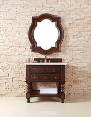 "36"" Castilian Single Sink Bathroom Vanity,  Aged Cognac"