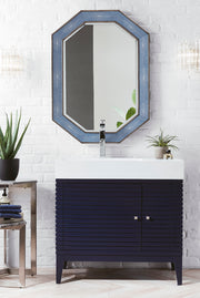 "36"" Linear Single Sink Bathroom Vanity, Victory Blue"