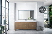 "72"" Linear Single Sink Bathroom Vanity, Whitewashed Walnut"