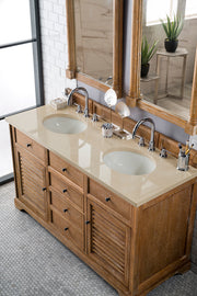 "60"" Savannah Double Sink Bathroom Vanity, Driftwood"