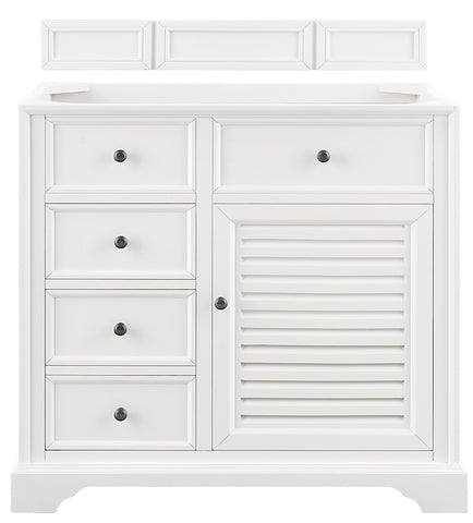"36"" Savannah Single Bathroom Vanity, Bright White"