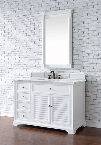 "48"" Savannah Single Bathroom Vanity, Bright White"