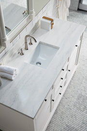 "60"" Savannah Single Bathroom Vanity, Bright White"