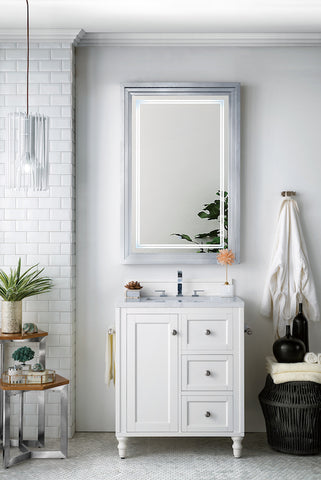 "30"" Copper Cove Encore Single Sink Bathroom Vanity, Bright White"