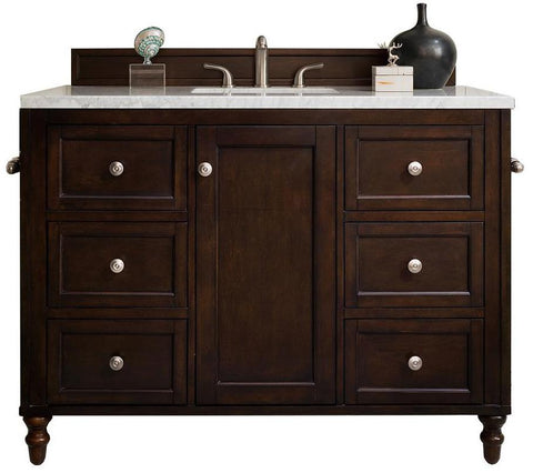 "48"" Copper Cove Encore Burnished Mahogany Single Sink Bathroom Vanity, James Martin Vanities - vanitiesdepot.com"