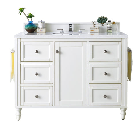 "48"" Copper Cove Encore Single Sink Bathroom Vanity, Bright White"