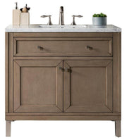 "36"" Chicago Whitewashed Walnut Single Sink Bathroom Vanity, James Martin Vanities - vanitiesdepot.com"