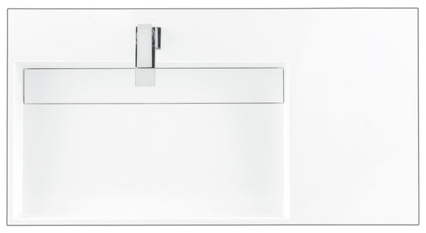"36"" Columbia Single Sink Bathroom Vanity, Glossy White w/ Radiant Gold"