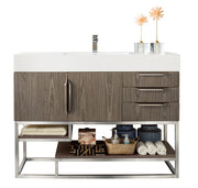 "48"" Columbia Single Sink Bathroom Vanity, Ash Gray"