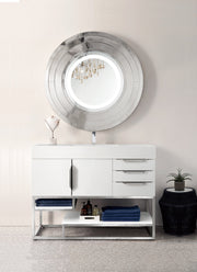 "48"" Columbia Single Sink Bathroom Vanity, Glossy White"