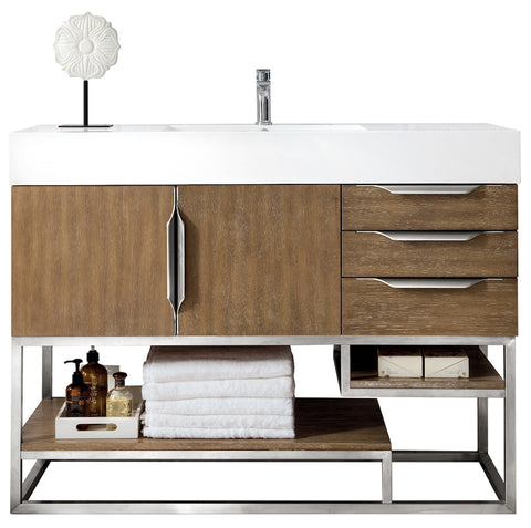 "48"" Columbia Single Sink Bathroom Vanity, Latte Oak"