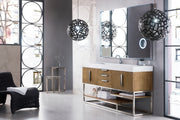 "72"" Columbia Single Sink Bathroom Vanity, Latte Oak"