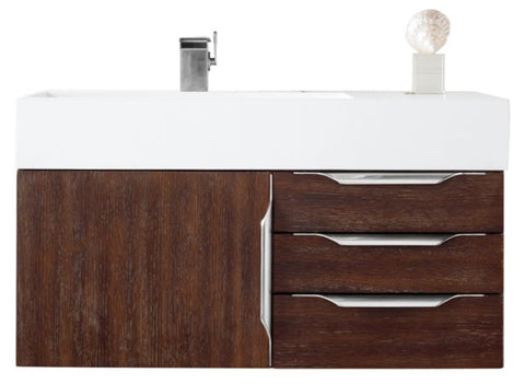 "36"" Mercer Island Single Sink Bathroom Vanity, Coffee Oak"