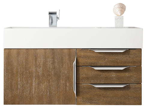 "36"" Mercer Island Single Sink Bathroom Vanity, Latte Oak"