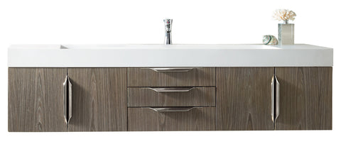 "72"" Mercer Island Single Sink Bathroom Vanity, Ash Gray"
