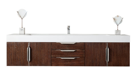 "72"" Mercer Island Single Sink Bathroom Vanity, Coffee Oak"