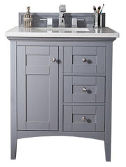 "30"" Palisades Silver Gray Single Sink Bathroom Vanity, James Martin Vanities - vanitiesdepot.com"