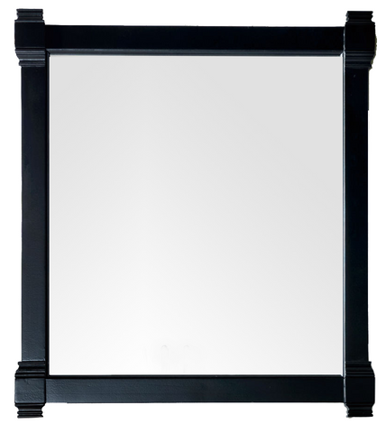 "Brittany 35"" Mirror, Black Onyx, James Martin Vanities - vanitiesdepot.com"