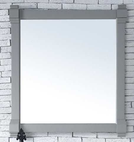 "Brittany 35"" Mirror, Urban Gray, James Martin Vanities - vanitiesdepot.com"
